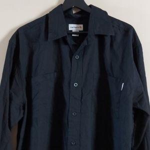 Carhartt mens black button up cotton  shirt